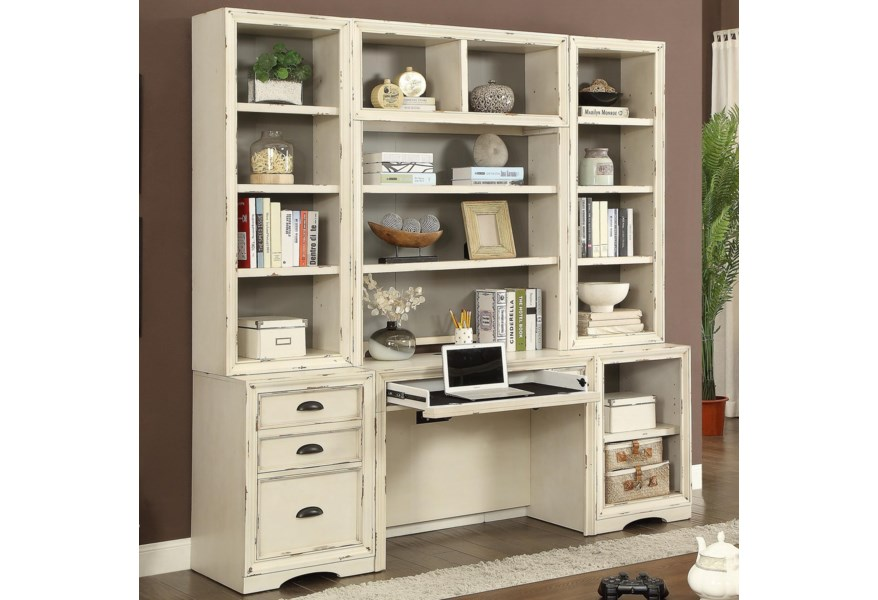 Nantucket 6 Piece Home Office Wall