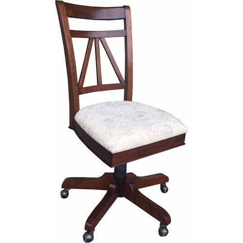 Parker House Napa Armless Desk Chair with Upholstered Seat