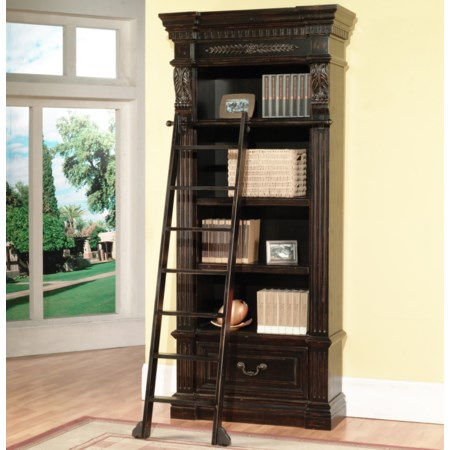 Museum Bookcase with Ladder