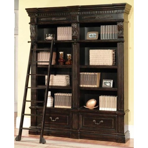 Parker House Palazzo  Double Museum Bookcase Combination