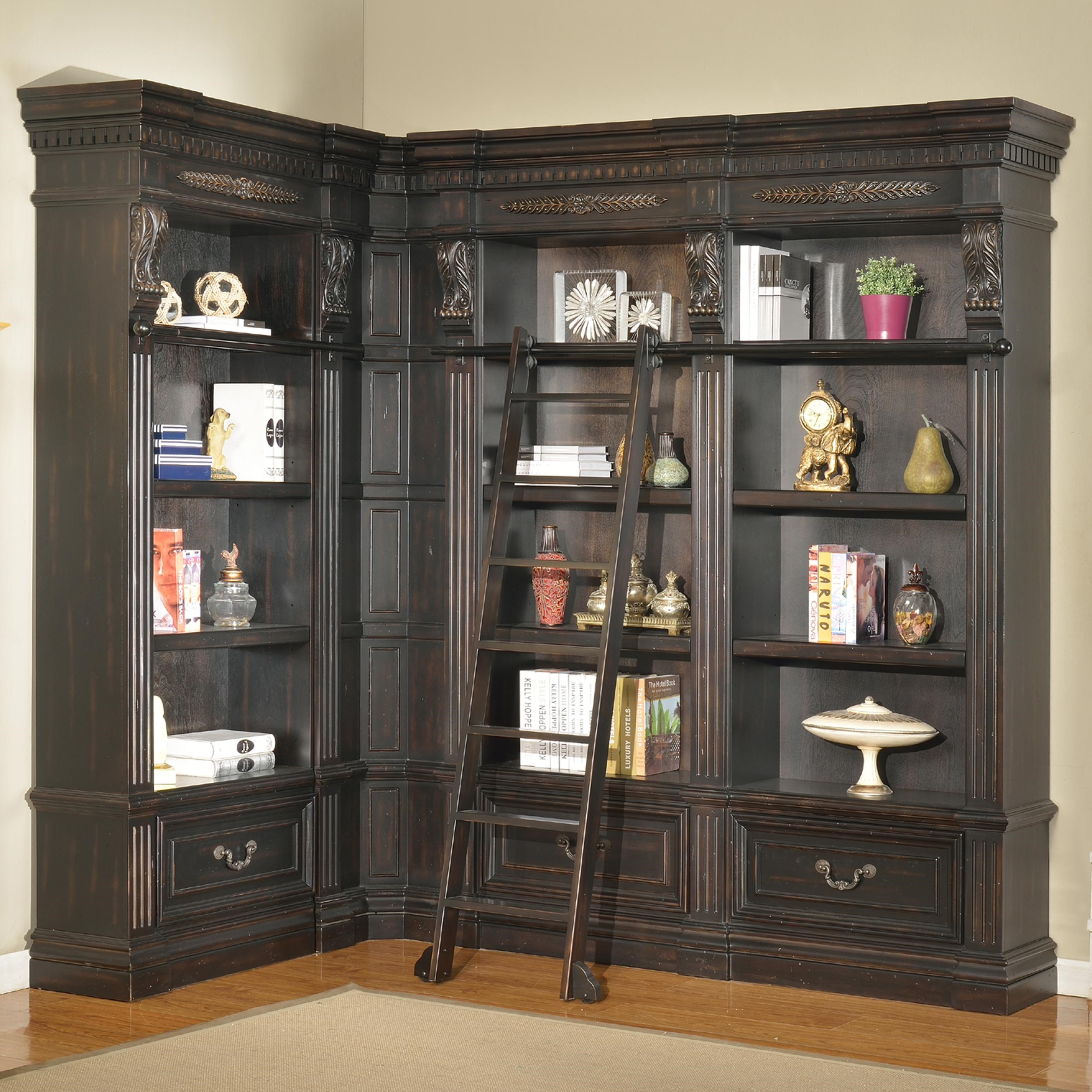 Parker House Palazzo 5 Piece Museum Bookcase Corner Wall Unit