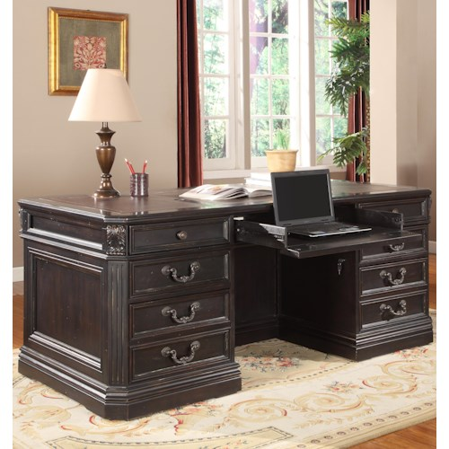 Parker House Palazzo  Traditional Double Pedestal Executive Desk