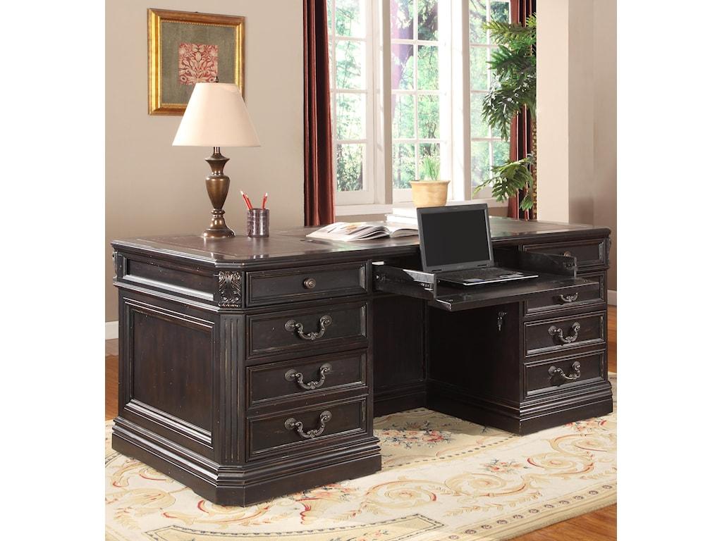 Parker House Palazzo Double Pedestal Executive Desk