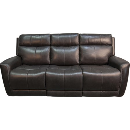 Pravin Leather Match Power Sofa