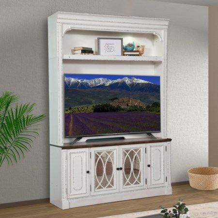 TV Stand with Hutch