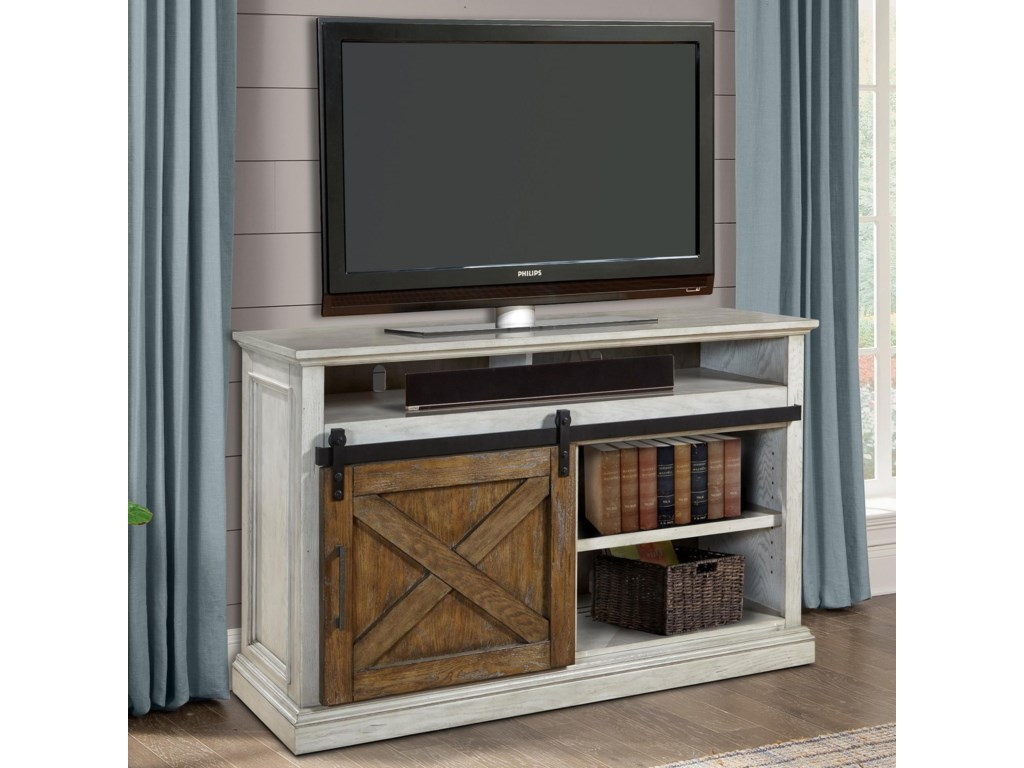 55 Tv Console With Sliding Door Savannah By Parker House Wilcox