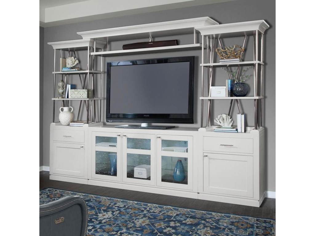 Parker house skyline contemporary entertainment wall unit