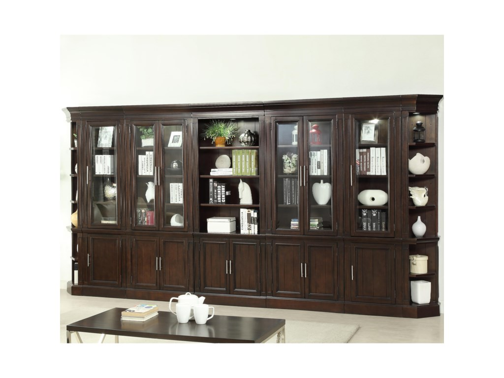 Parker House Stanford Wall Unit With 32 Shelves Pilgrim
