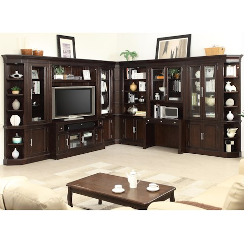 Parker House Stanford Wall Unit with TV Console and Built in Desk