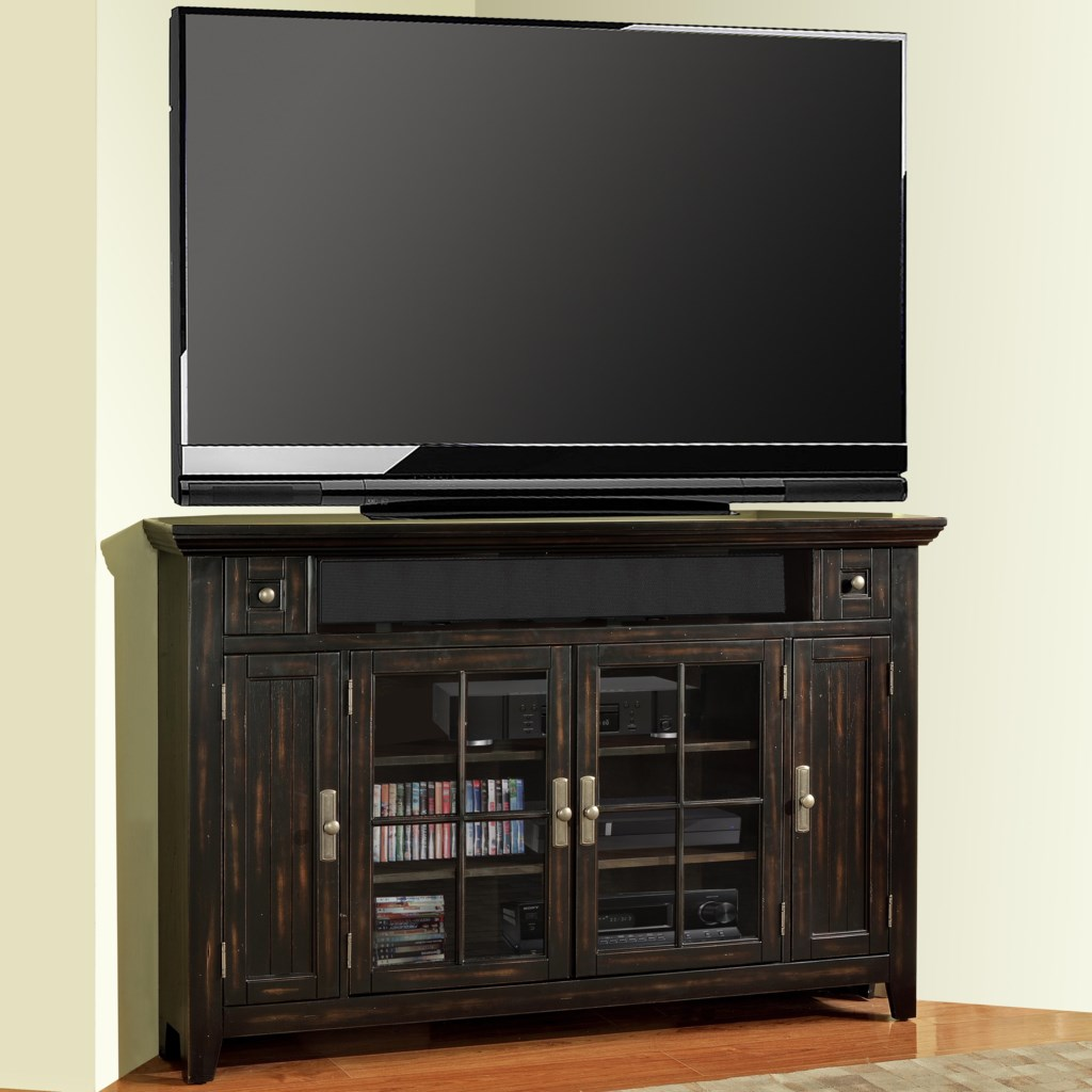 Parker House Tahoe 62 Corner Tv Console With 4 Doors Wayside