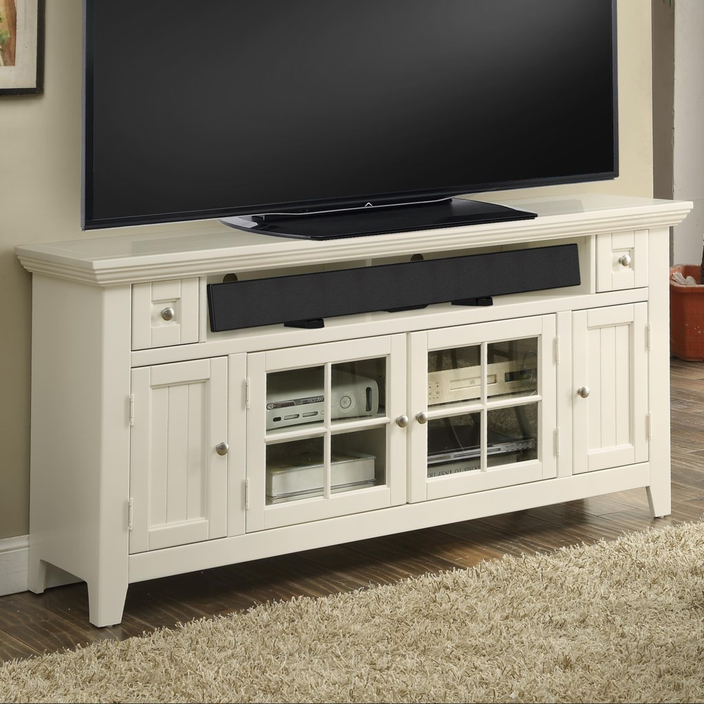 Parker House Tidewater 62 Tv Console With Four Doors And Sound Bar