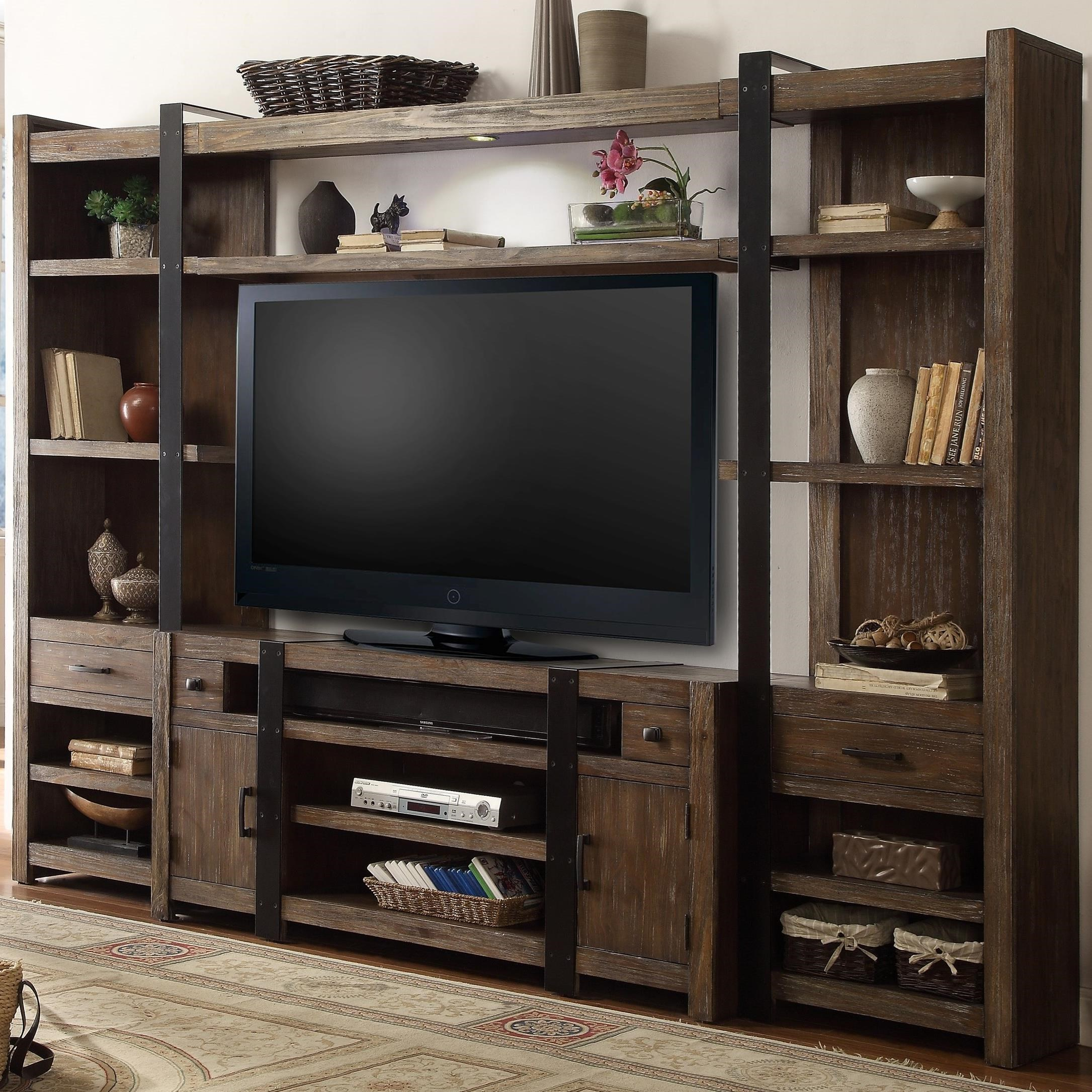 Parker House Tribeca 4 Piece Entertainment Wall With LED Lighting