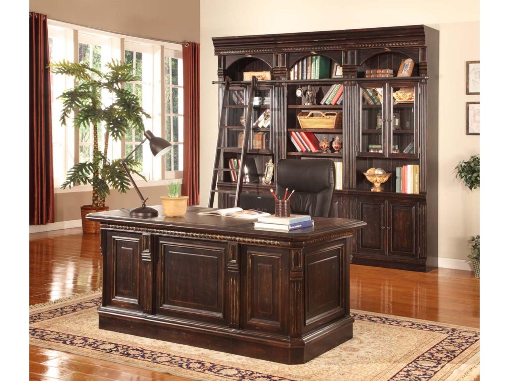 Shown with 32-Inch Bookcases and Library Ladder