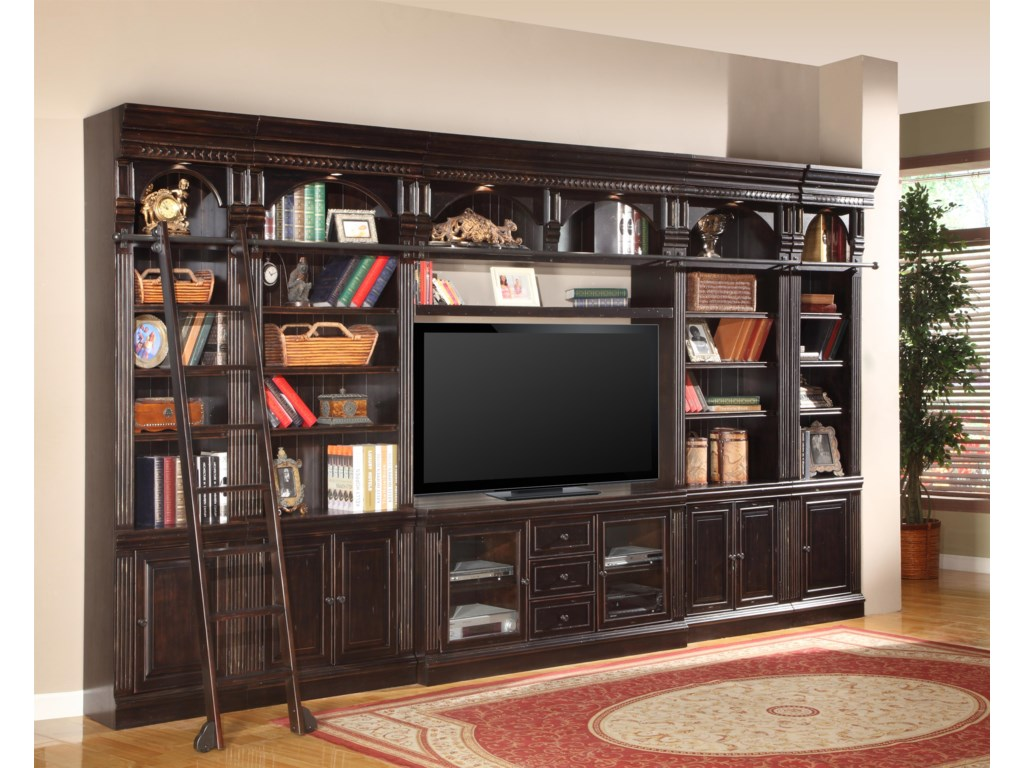 Shown with 32-Inch Bookcases, 22-Inch Bookcases, TV Console and Bridge