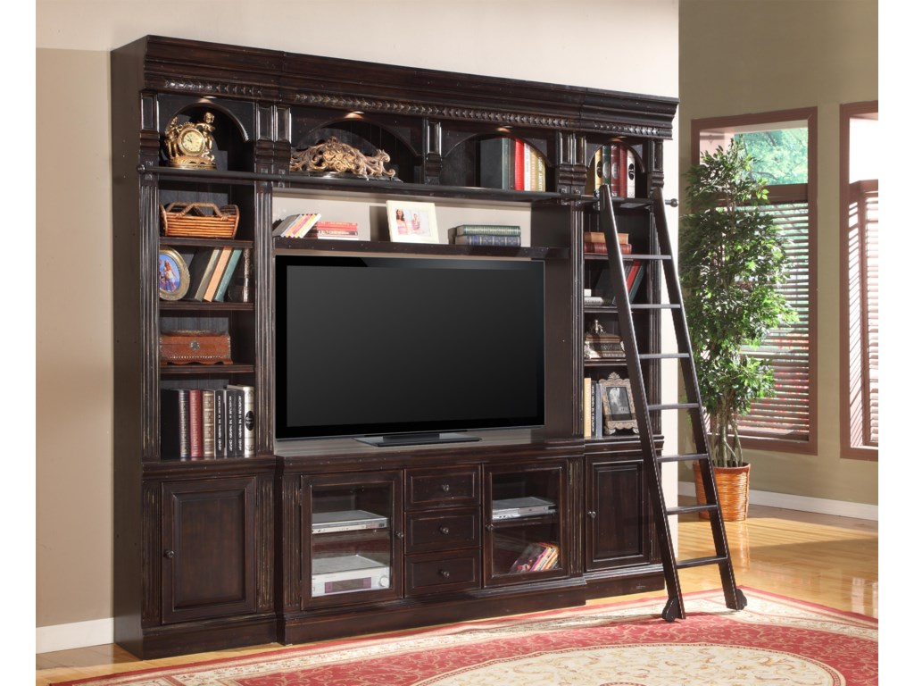 Shown with 22-Inch Bookcases, TV Console and Bridge