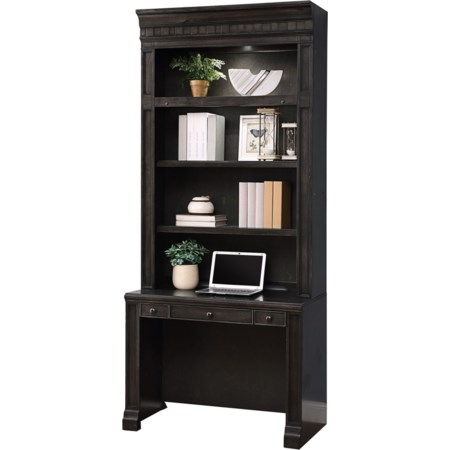 In-Wall Library Desk and Hutch