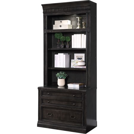 2 Drawer Lateral File and Hutch