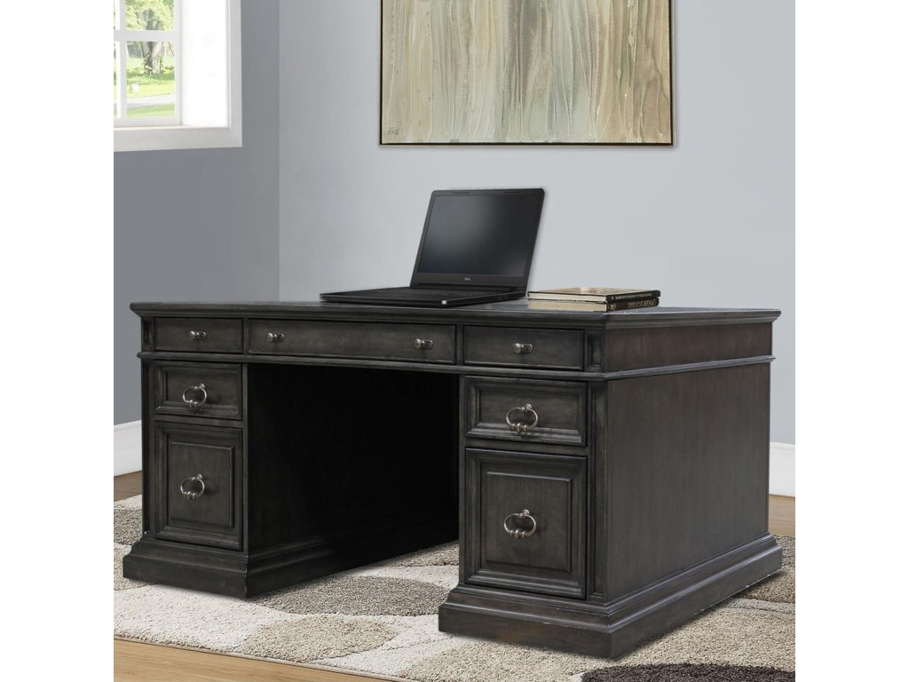 Parker House Washington HeightsDouble Pedestal Executive Desk