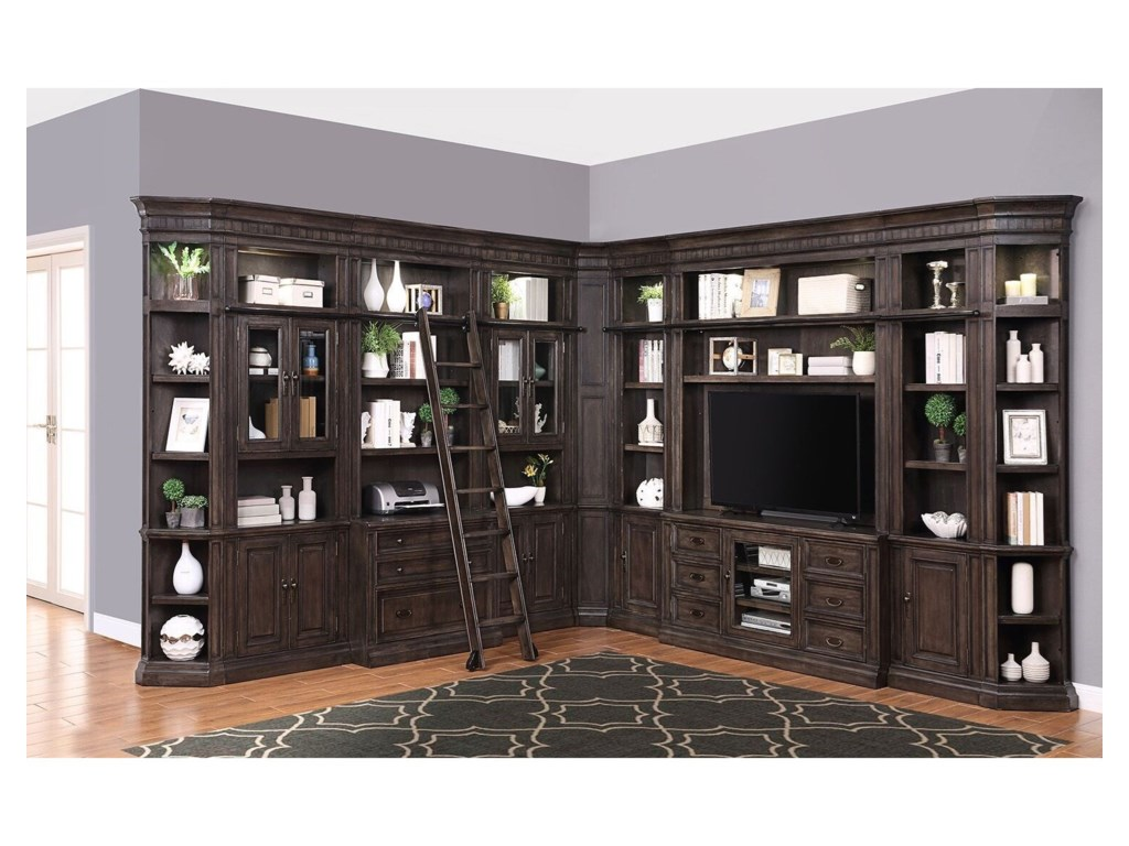 Parker House Washington Heights Library Wall Unit With Tv