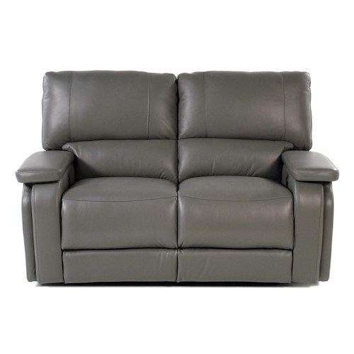 Parker Living Puma Casual Power Recline Love Seat with Pad Over Arms