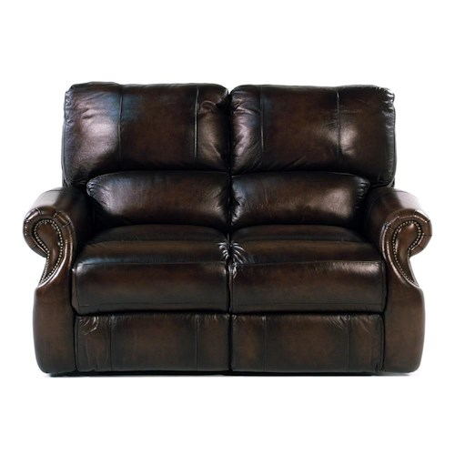 Parker Living Prestige Traditional Dual Power Reclining Love Seat with Rolled Arms