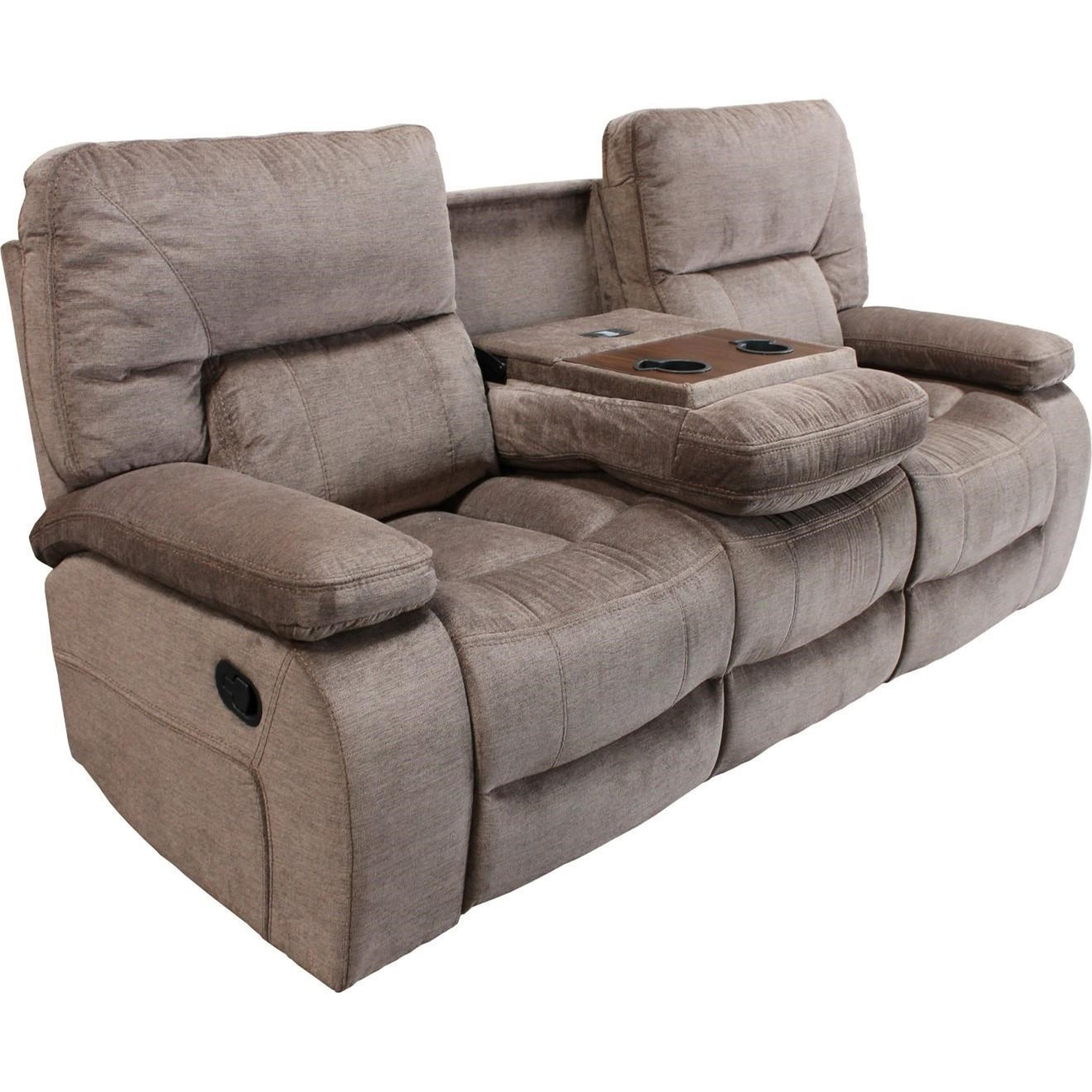 Parker Living Chapman Casual Dual Reclining Sofa With Drop Down Center  Console Cupholders