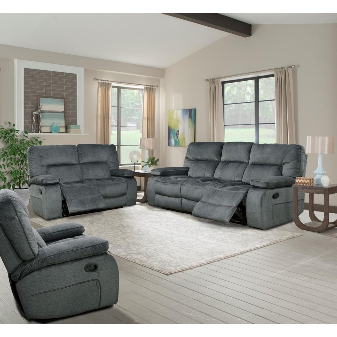 Bon Parker Living Chapman Casual Reclining Living Room Group With Triple  Reclining Sofa And Glider Recliner