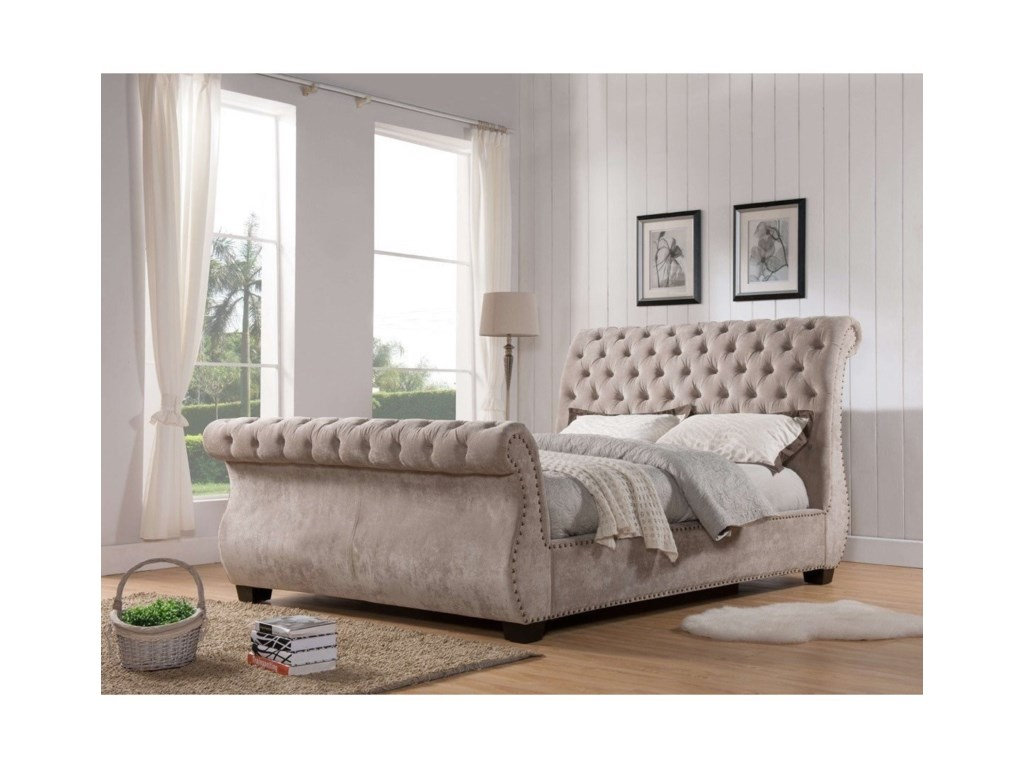Parker Living ClaireCalifornia King Upholstered Sleigh Bed