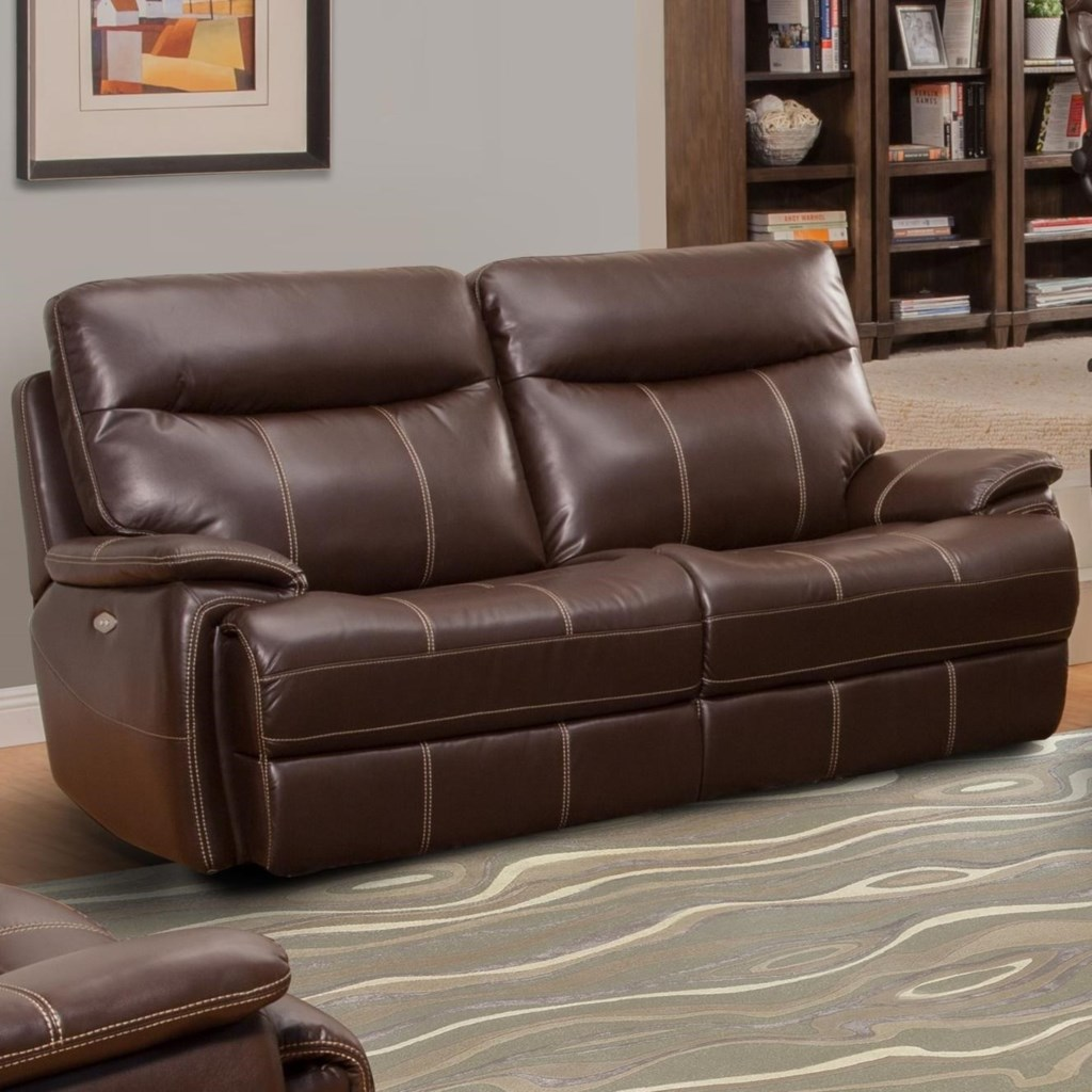 Parker Living Dylan Dual Reclining Two Cushion Sofa With Full  ~ Two Cushion Reclining Sofa