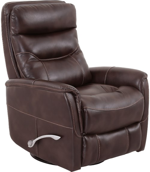 Parker Living Gemini Contemporary Swivel Glider Recliner with Padded Arms