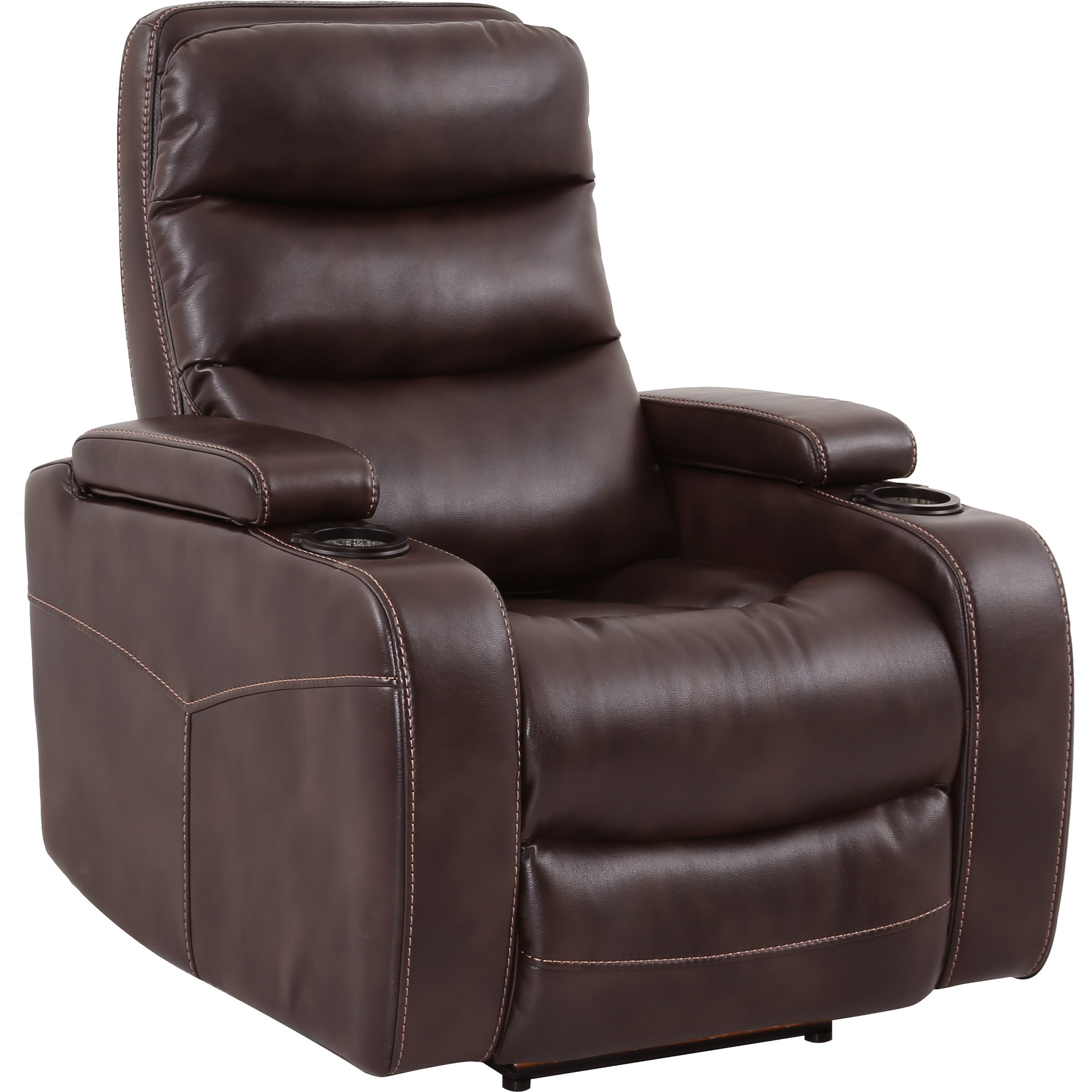 Parker Living Genesis Contemporary Home Theater Power Recliner With Cup  Holders And In Arm Storage