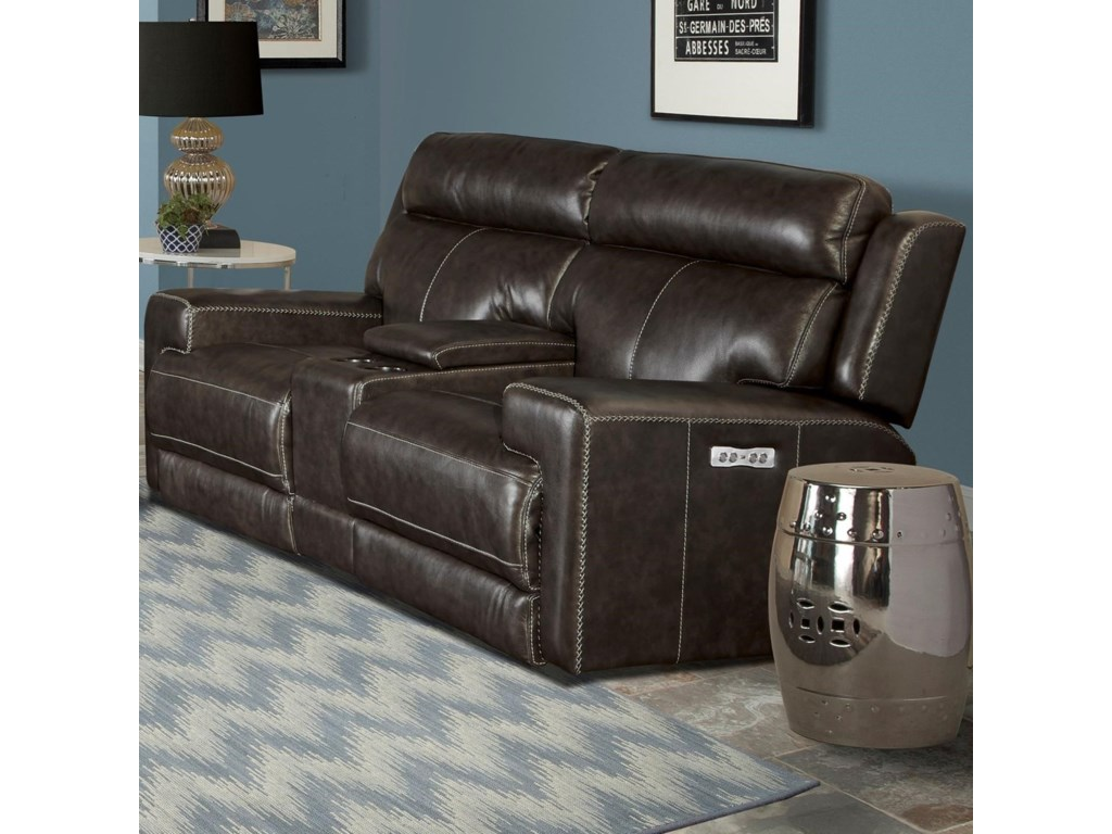 Parker Living GlacierDual Power Reclining Console Loveseat