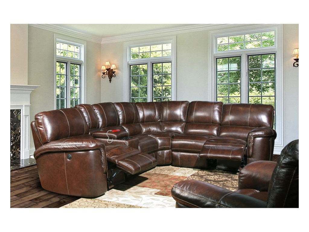 Parker Living HitchcockPower Reclining Sectional Group