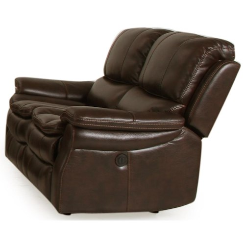 Parker Living Juno Dual Power Reclining Love Seat with Pillow Arms and Bucket Seats
