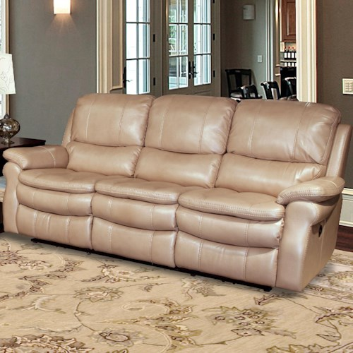 Parker Living Juno Dual Power Reclining Sofa with Pillow Arms and Bucket Seats