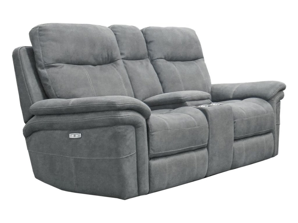 Parker Living Mason Casual Power Reclining Console Loveseat With Cup