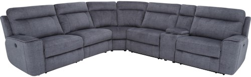 Parker Living Parthenon Casual Power Reclining Sectional Sofa with Power Headrests