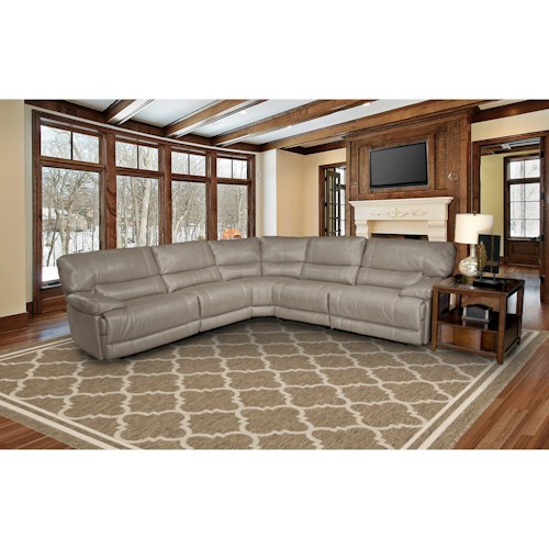 Parker Living Pegasus 5 Seater Reclining Sectional Sofa With Large Pillow Arms