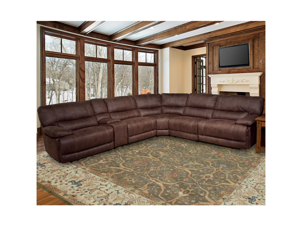 Parker Living Pegasus 5 Seater Power Reclining Sectional Sofa with ...