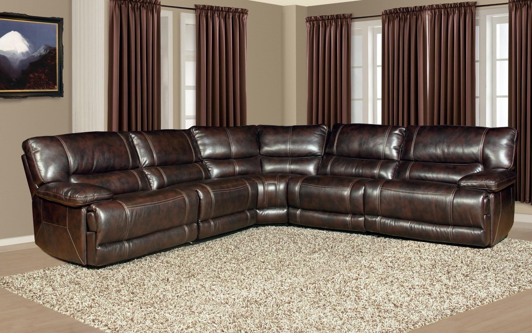 Parker Living Pegasus 5 Seater Power Reclining Sectional Sofa With Large  Pillow Arms