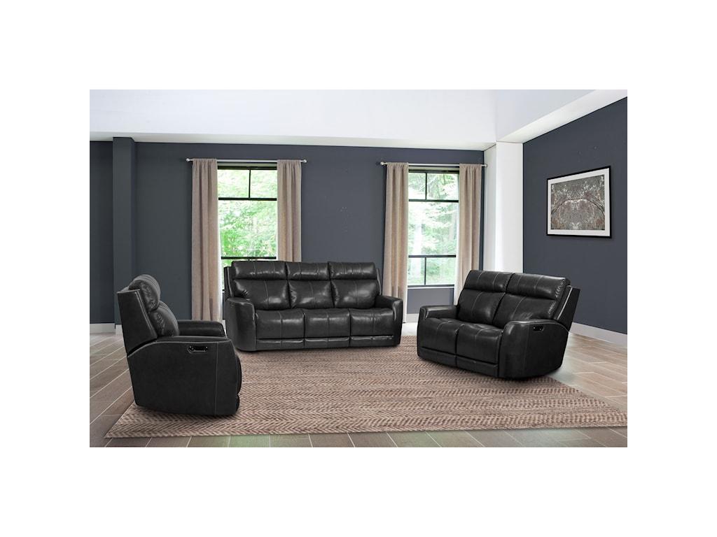 Parker Living PerkinsPower Sofa w/ USB, Pwr Headrest & Lumbar