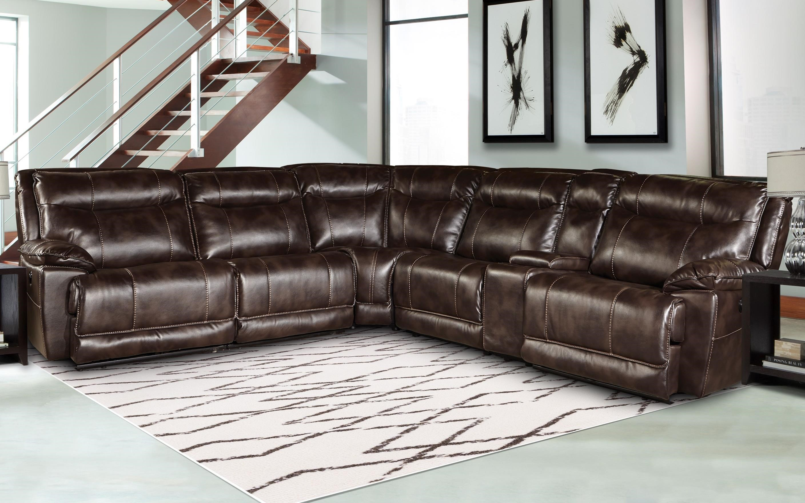 Great Parker Living Phoenix Casual Reclining Sectional Sofa With Power And  Storage Console