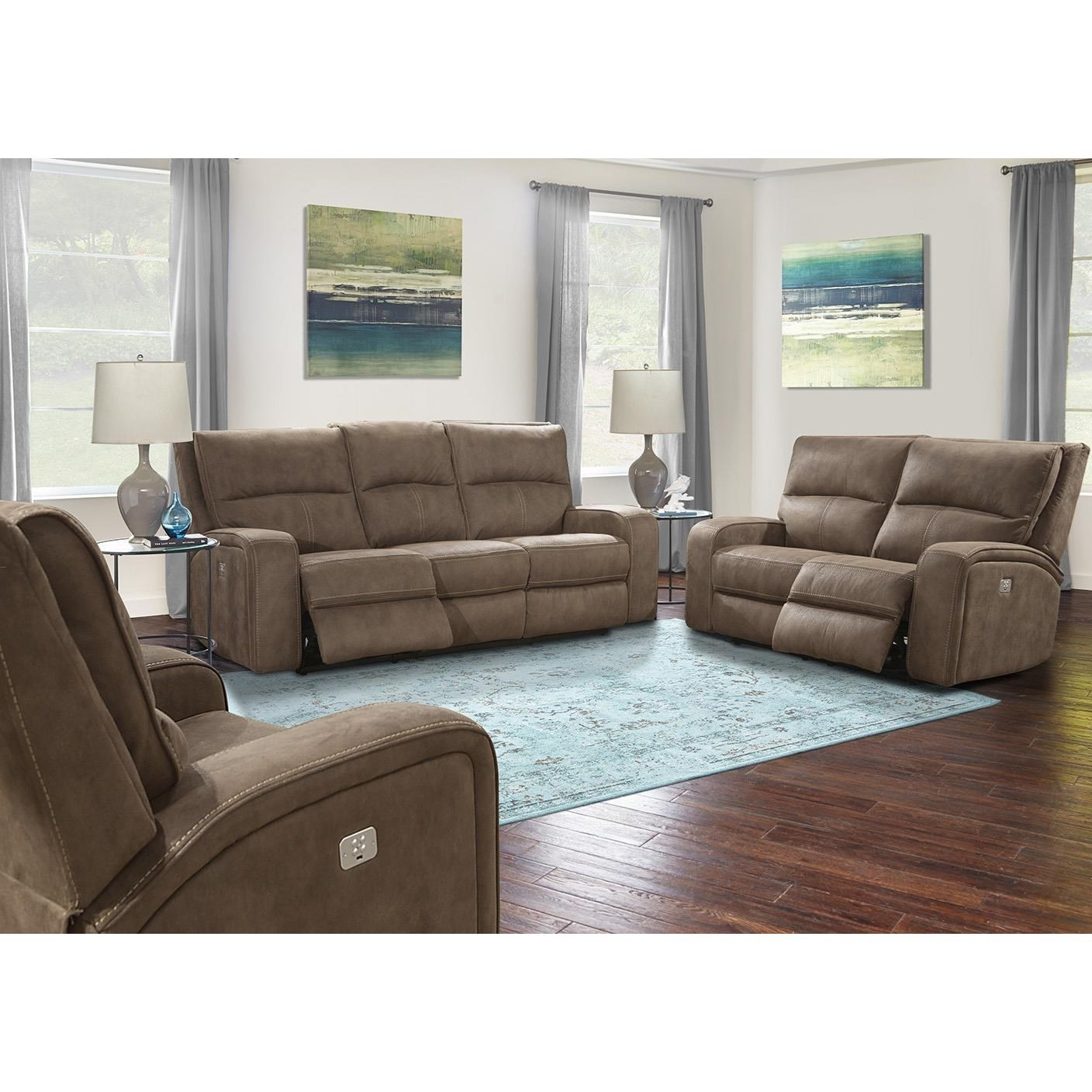 Superieur Parker Living Polaris KahluaPower Reclining Living Room Group