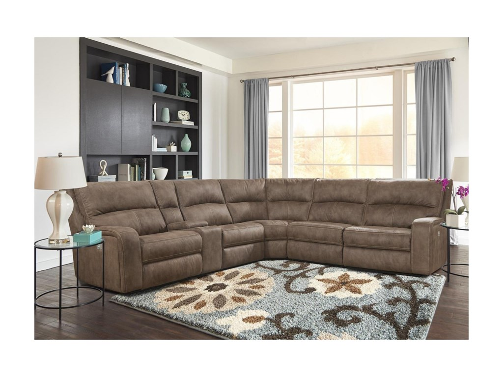 Parker Living Polaris Kahlua Power Reclining Sectional With Power