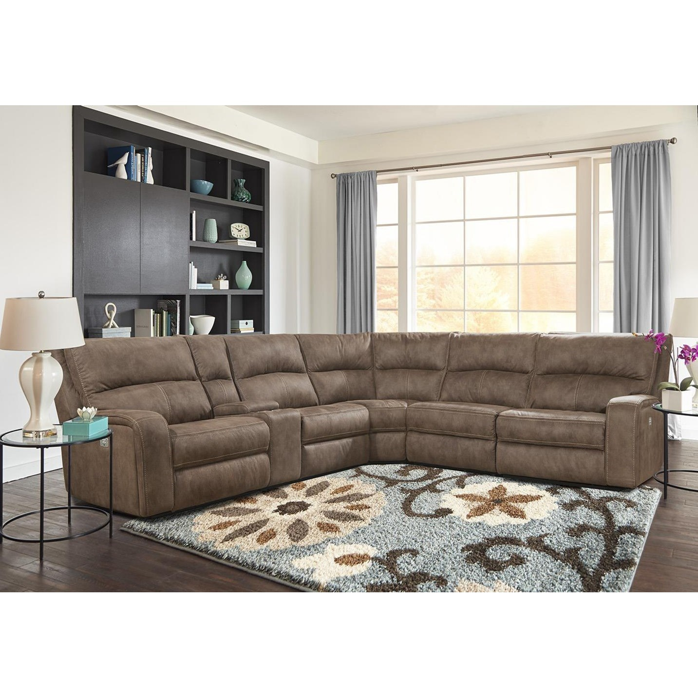 Exceptionnel Parker Living Polaris Kahlua Power Reclining Sectional With Power Headrests  And USB Charging Ports