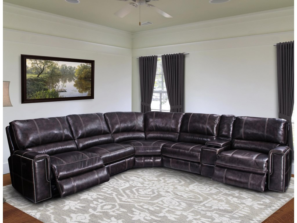 Parker Living JeromePower Reclining Sectional Sofa