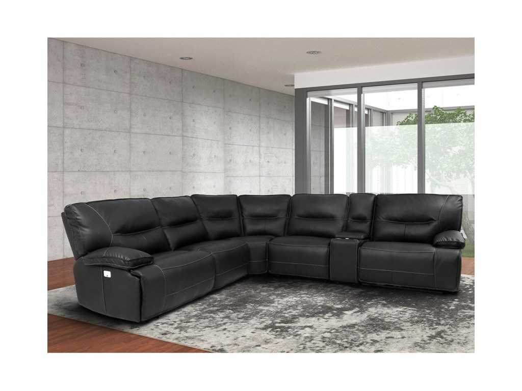 Spartacus Power Reclining Sectional with Power Headrests and USB Ports by  Parker Living at Reeds Furniture