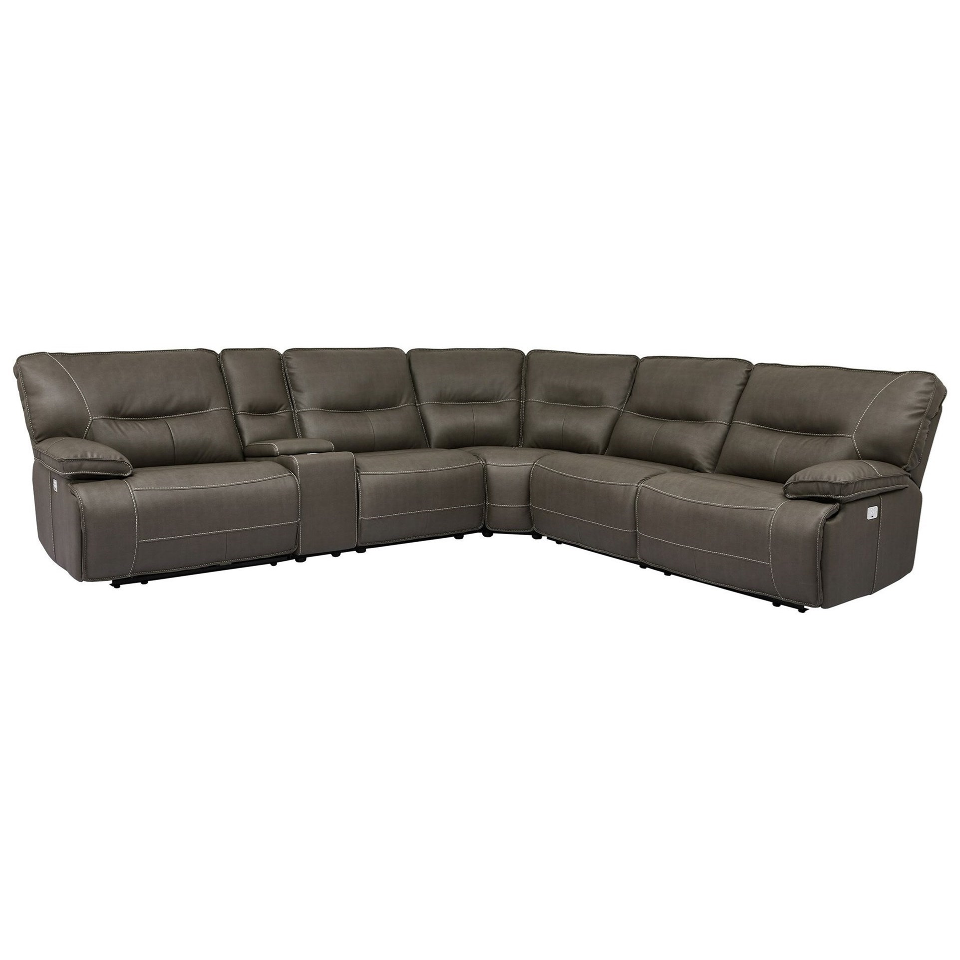 Parker Living Spartacus Reclining Sectional With Power Headrests And USB  Ports