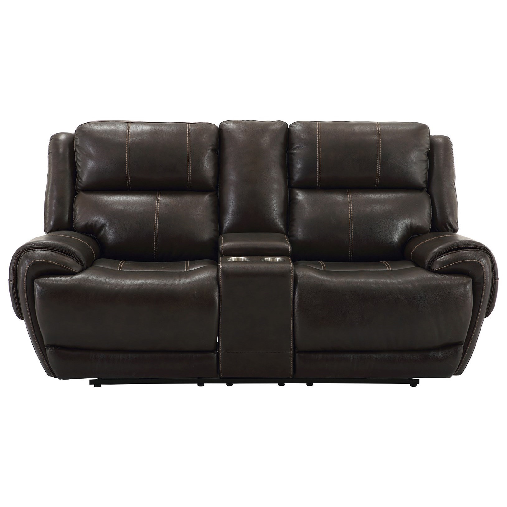 Parker Living Spencer Power Dual Reclining Console Loveseat With Power  Headrest And USB Charging