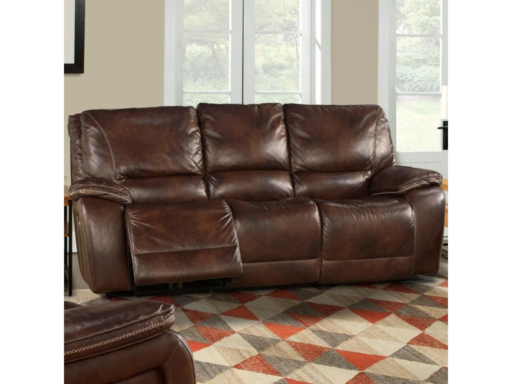 Parker Living VailLeather Match Dual Power Reclining Sofa